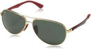 a776e6742a Ray-Ban Men s 0rb8313mf0087161steel Man Aviator Sunglasses