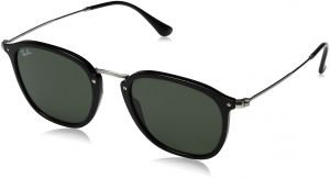 3eab6ac46e0608 Ray-Ban RB2448N 901 Non-Polarized Sunglasses, Black Green, 51 mm