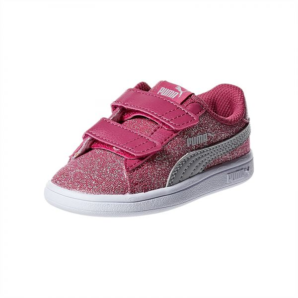 5a3797d3e7b7c2 Puma Smash V2 Glitz Glam V Infants Magenta H Sneaker For Kids