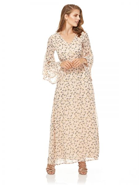 7eca3516b51 Buy Mela London Fluted Sleeve Maxi Dress For Women - Blush in Saudi Arabia
