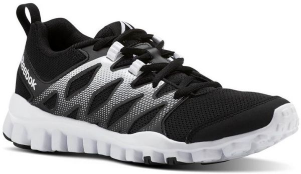 Reebok Realflex Train 4.0 Training Athletic Shoes For Women Black & White