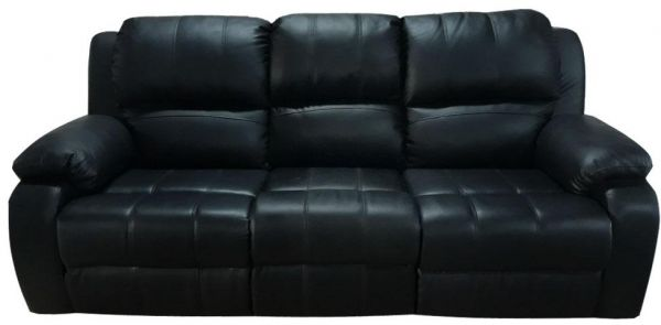 3 Seater Recliner Sofa Black Leather Price In Uae Souq Home
