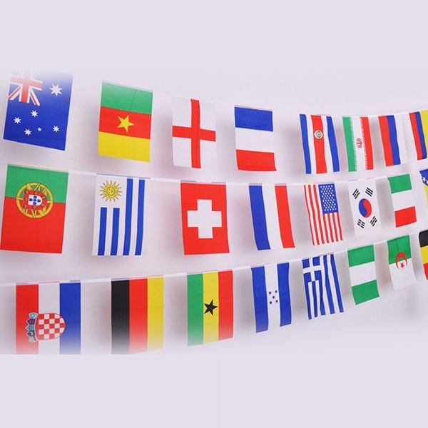 578b1bfa4631 2018 FIFA World Cup Top 32 String Flag Banners International Flag ...
