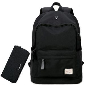 c29d417f1347 Traveling Laptop Bag for 15 Inch Backpack with USB Charging Port college  students bag with wallet