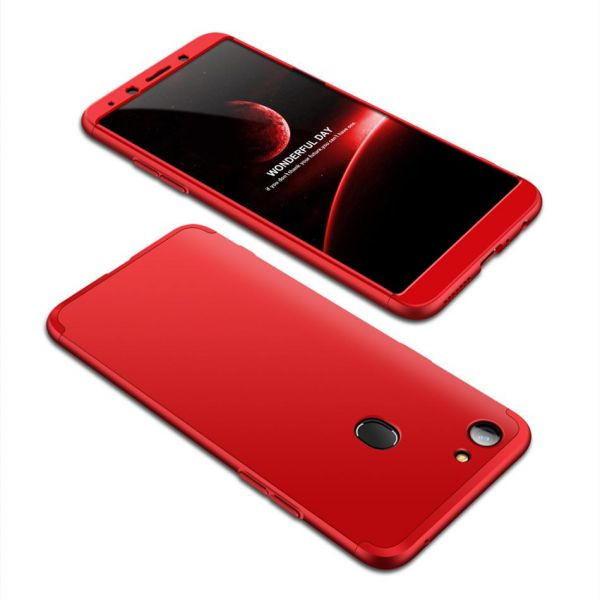 best authentic e0d50 68e98 Oppo F7 case 360 Degree 2 pieces Silicon products front and back - Red