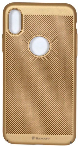 Breathable Ultra Slim Case For iPhone X Gold | Souq - UAE