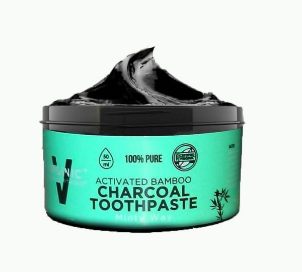 activated charcoal toothpaste teeth whitening 2 oz natural black