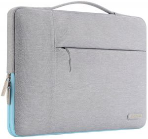 4944511fbe MOSISO Polyester Fabric Multifunctional Sleeve Briefcase Handbag Case Cover  for 13-13.3 Inch Laptop