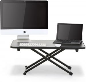 1d5c98c66f29 FITUEYES Standing Desk Height Adjustable Desk Converter Monitor Stand 30in  x 20in Workspace