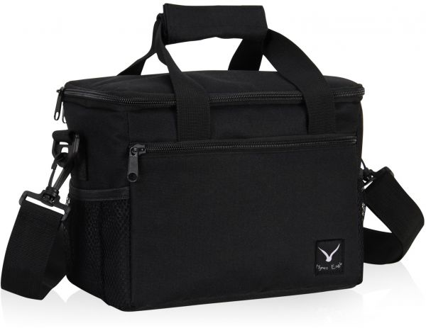 Hynes Eagle Lightweight Insulated Lunch Bag 10 Can Capacity Cooler Bag Black | السعودية | سوق