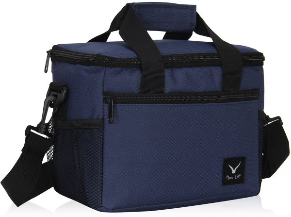Hynes Eagle Lightweight Insulated Lunch Bag 10 Can Capacity Cooler Bag Navy | السعودية | سوق
