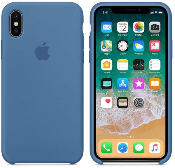 newest a608a 49ced Apple Silicone case For Apple iphone X - Denim Blue