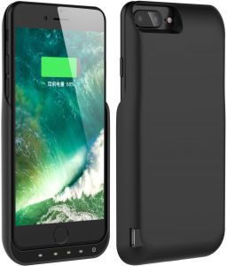 lowest price 43c90 60d5c iPhone Battery Case, JLW 8000 mAh Power Bank Case Rechargeable Protective  Battery Charging Case for Apple iPhone 6 Plus/6S Plus/7 Plus/8 Plus (5.5 ...