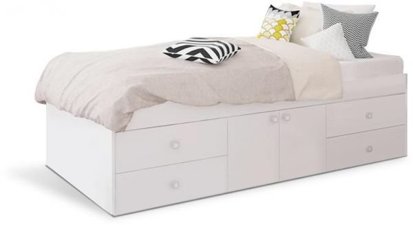 Single Bed with Storage and Mattress | Souq - UAE