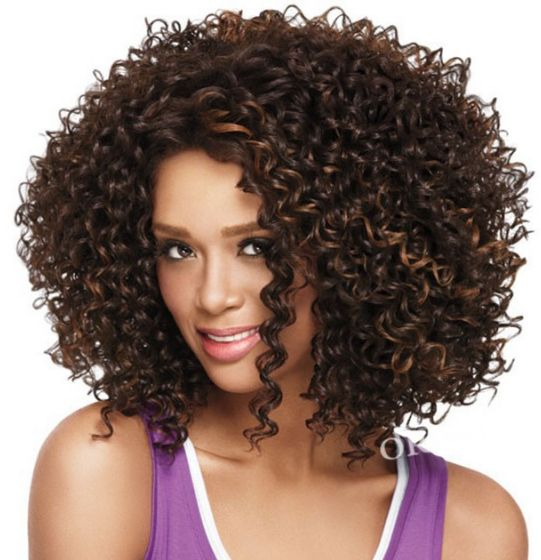 Charm African curly wig short fluffy explosion
