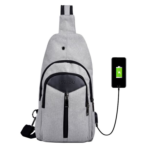 370b5d5d514 MOSISO Sling Backpack, Polyester Durable Chest Shoulder Unbalance ...