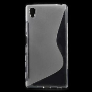 S-curve Line Soft TPU Gel Shell for Sony Xperia Z5 / Z5 Dual - Transparent