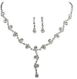 Bridal Jewelry Sets Crystal Rhinestone Party Wedding Jewelry Necklace Earring Sets | Souq - UAE