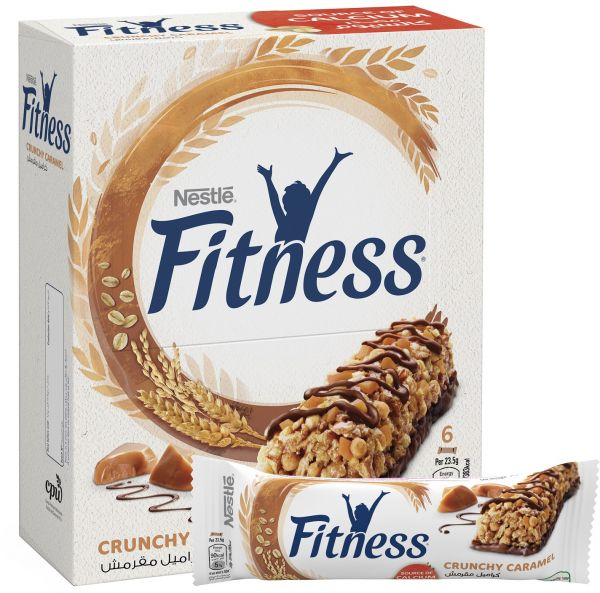 Nestle Fitness Crunchy Caramel Oats Breakfast Cereal Bar, 23.5 gm - Pack of 6