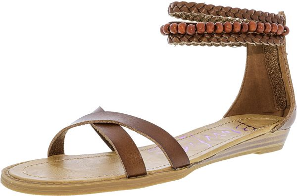 cec1c9b8332 Blowfish Boxcar Flat Sandals for Women - Brown Price in Egypt