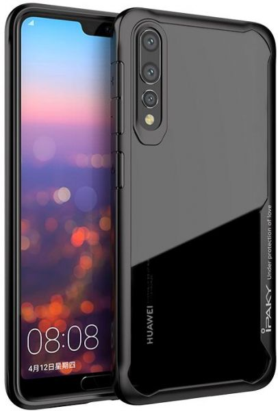 IPAKY Shockproof Hybrid Armor Case Full Edge Cover For Huawei P20 Pro