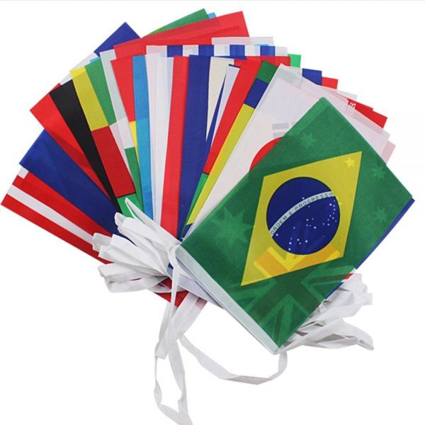 cac084cd8 2018 FIFA World Cup Top 32 String Flag Banners International Flag ...