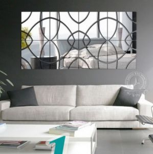 3D Acrylic Mirror Wall Stickers DIY Decorative Mirror Stickers
