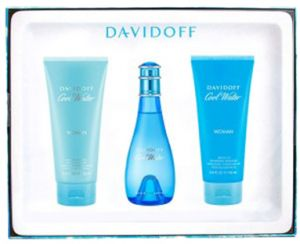 944c642c7 Cool Water by Davidoff Perfume Gift Set for Women - Eau de Toilette, 3 Count