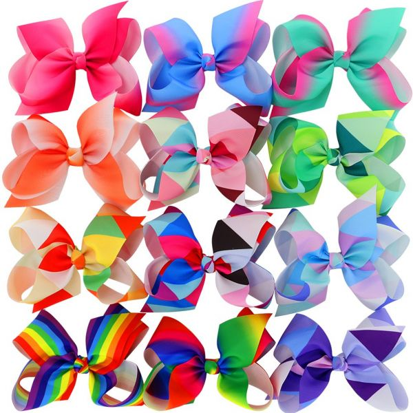 Myamy 6 Inches Hair Bows For Girls Large Big Grosgrain Ribbon