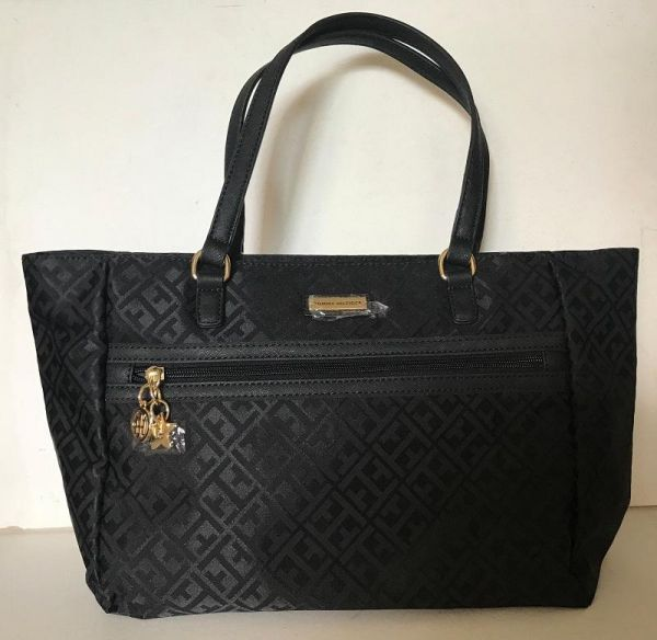 941187756a2 Tommy Hilfiger Bag For Women,Black - Shopper Bags   Bags   Wallets ...