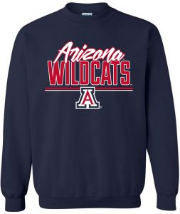 NCAA Arizona Wildcats Adult Unisex NCAA Script Crewneck Sweatshirt  3bf6b4cfa
