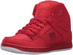 046a27ff202eb0 DC Women's Pure High-Top TX SE Skate Shoe, Red/Red/Red, 5.5 B US ...