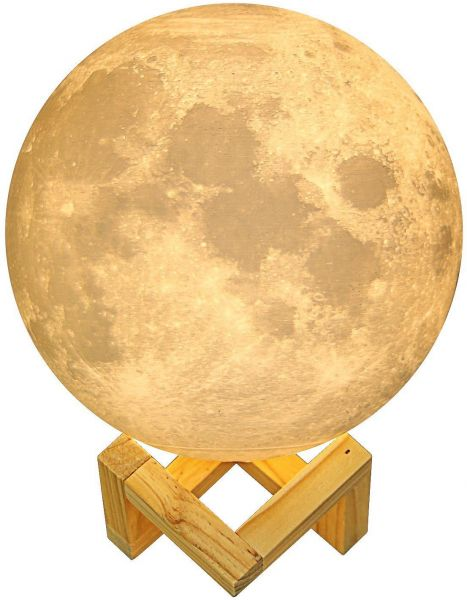 3d printing moon lamp with 4 7 inch warm white baby bedside night