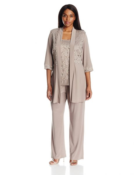 61b73dd9868 R M Richards Women s Plus Size Lace Pant Set