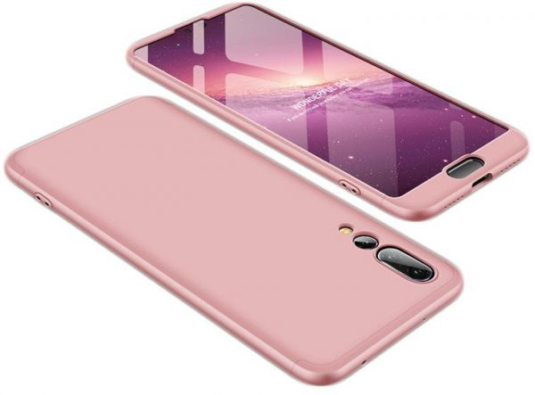 Huawei P20 Pro Case, Fashion ultra Slim Gkk 360 3in1 Full Protection Cover Case - Rose Gold