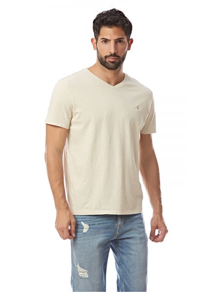 3675610a Polo Ralph Lauren Custom Fit T - Shirt for Men - Off White Price in ...