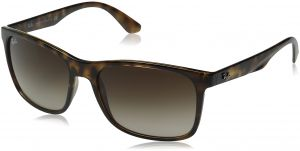 28b12a317e Ray-Ban INJECTED MAN SUNGLASS - HAVANA Frame BROWN GRADIENT Lenses 57mm Non- Polarized