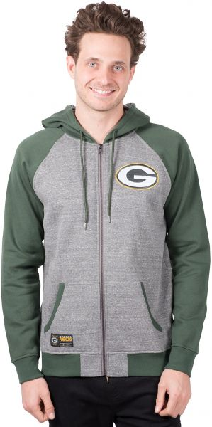 NFL Men s Green Bay Packers Full Zip Fleece Hoodie Sweatshirt Jacket ... 11531bcb4