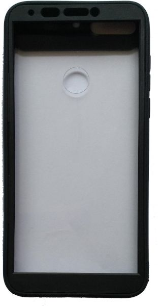 buy online bd950 aca1c Huawei Y7 Prime 2018 - New 360 Cover With Transparent Back - Black