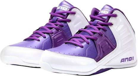 d2e54bba1f3 AND1 Rocket 4.0 Mid Basketball Shoes for Kids - White   Purple. by AND1