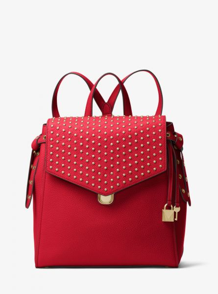 d11915a1eb824 MICHAEL MICHAEL KORS Bristol Medium Studded Leather Backpack - RED ...