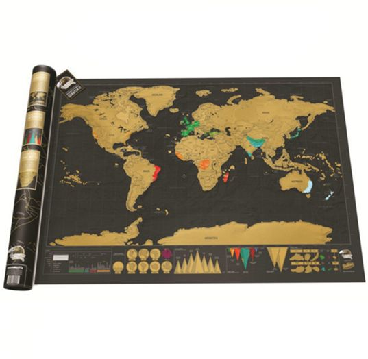 Scratch Off Map Of The World World Map Poster International Travel