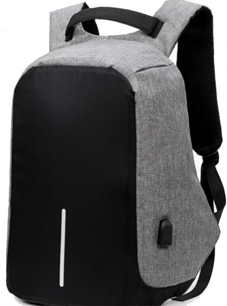 e21ee11c455a2 Laptop Backpack with USB Charging Port Waterproof Anti-theft Bag for Menand  Women Black and Grey Colour