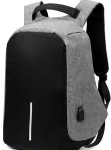 bfe2d01b21 Laptop Backpack with USB Charging Port Waterproof Anti-theft Bag for Men  and Women Black and Grey Colour