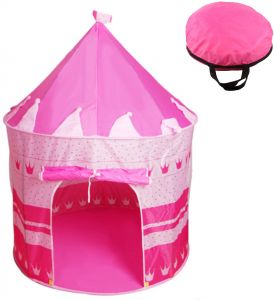 wholesale dealer 5c305 8e6ae Kids Children Pop Up Play Tent Girl Princess Castle Outdoor House Tent  Portable - Pink