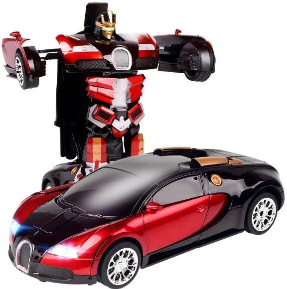 Remote car 2 in 1 transformable robot in red colour-new