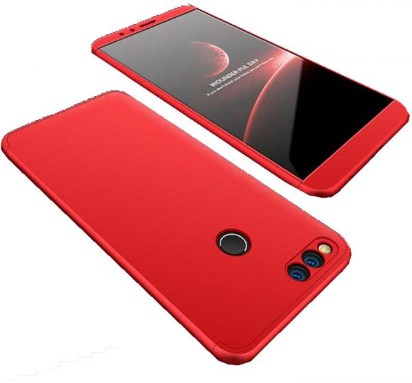 buy online dd605 67f2c Huawei GR5 2018 / 7X case 360 Degree 2 pieces Silicon products front And  back - Red