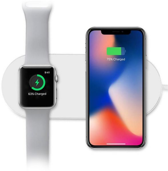 newest d0e7f d8c28 2-in-1 Qi Wireless Charger , Samsung and Smart Watch , charging Pad  compatible with Smart Watch Series 2/3 iPhone 8 , 8 Plus iphone X , Samsung  S7 , ...