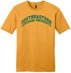 NCAA Southeastern Louisiana Lions Arch Soft Style T Shirt Small Gold