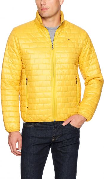 Tommy Hilfiger Men S Ultra Loft Quilted Packable Jacket Yellow X